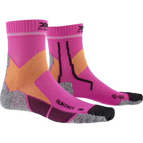 X-Socks Run Fast Skarpetki, flamingo pink/sunset orange